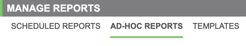 Ad-hoc report tab