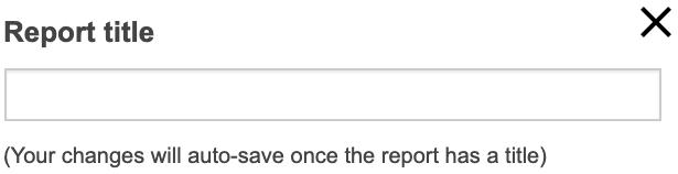 Adhoc report title