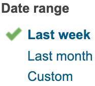 Adhoc report date range
