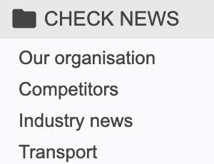 Check news navigation