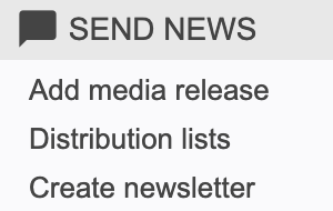 Send news navigation